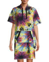 DKNY Women's Sneaker Cover-up Dress - Neon Multicolor - Size S/m