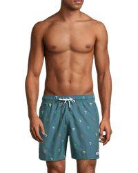 Trunks Surf & Swim Men's Embroidered Swim Shorts - Twilight - Size Xl - Blue