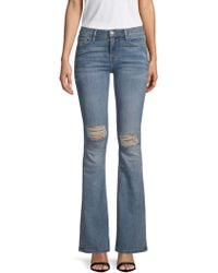 Etienne Marcel - Distressed Bootcut Jeans - Lyst