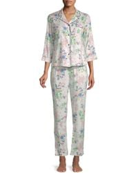Jane And Bleecker - Printed 2-piece Pyjama Set - Lyst