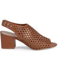 Pure Navy Josie Weave Peep-toe Slingback Sandals - Black