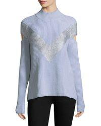 Zoe Jordan Graham Foil Sweater - Blue