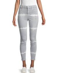 J Brand Alana High Rise Skinny Ankle Jeans - Gray