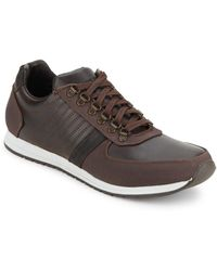 Steve Madden - Textured Lace-up Sneakers - Lyst