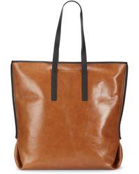 Brunello Cucinelli Safari Leather Tote - Brown