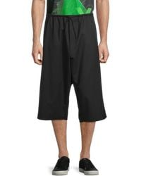 Y-3 Men's Wool-blend Shorts - Black - Size L