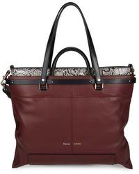 Proenza Schouler Women's Ps19 Large Leather Top Handle Bag - Dahlia - Multicolour