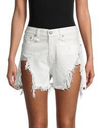 R13 Mini Cotton Shorts - White