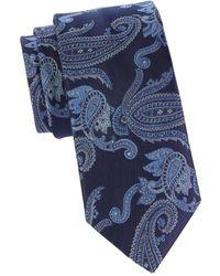 Brioni Paisley-print Silk Tie - Blue