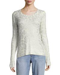 Saks Fifth Avenue - Animal Foil Knit Sweater - Lyst