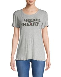 Chaser - Graphic Heathered Cotton Tee - Lyst