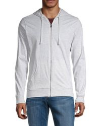 Unsimply Stitched Men's Full-zip Cotton Hoodie - White - Size Xxl