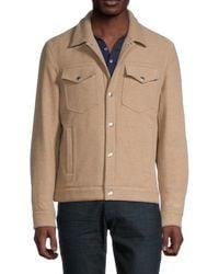 Brunello Cucinelli Men's Casual Wool Jacket - Tan - Size M - Brown