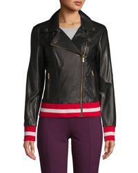 CALVIN KLEIN 205W39NYC Faux Leather Moto Jacket - Black