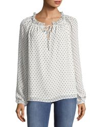 NYDJ - Clipped Jacquard Pullover - Lyst