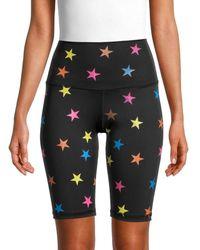 Chrldr Star-print Bike Shorts - Black