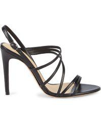 Alexandre Birman Leather Slingback Sandals - Black