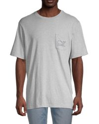 Vineyard Vines Whale Pocket T-shirt - Gray