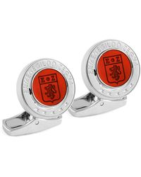 Ermenegildo Zegna Signature Logo Enamel & Sterling Silver Cufflinks - Multicolour
