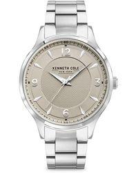 Kenneth Cole Classic Silvertone & Stainless Steel Bracelet Watch - Grey