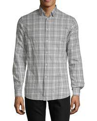 J.Lindeberg Plaid Cotton Button-down Shirt - Multicolour