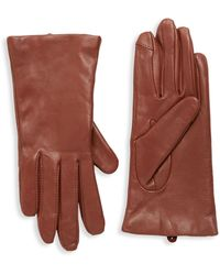 Saks Fifth Avenue Cashmere-lined Leather Gloves - Multicolour