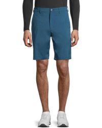 PGA TOUR Men's Flat-front Shorts - Moroccan - Size 38 - Blue