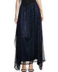 Romance Was Born Epitome Sequin Maxi Skirt - Blue