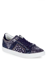 Alessandro Dell'acqua - Embellished Lace-up Sneakers - Lyst