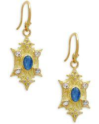 Armenta - Diamond, Kyanite & White Sapphire Earrings - Lyst