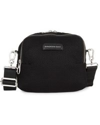 Mandarina Duck Women's Joy Mesh Convertible Backpack - Black