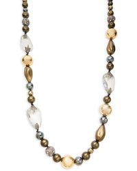 Alexis Bittar 10k Goldplated, Faux Pearl & Multi-stone Necklace - Multicolor
