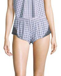 Cosabella - Geometric-print Boxer Shorts - Lyst