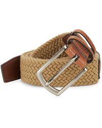 Saks Fifth Avenue Leather & Textile Belt - Multicolour