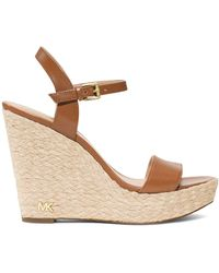 MICHAEL Michael Kors Jill Espadrille Wedge Leather Sandals - Multicolour