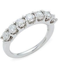 Canali Batu Sterling Silver Green Amethyst & Diamond Ring - Metallic
