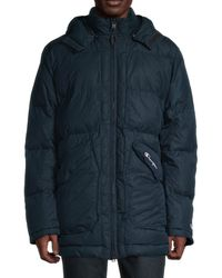 Champion Men's Hooded Puffer Jacket - Jeweled Jade - Size Xs - Blue
