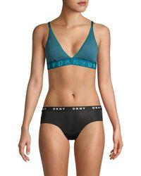 DKNY Seamless Litewear Rib Bralette - Green