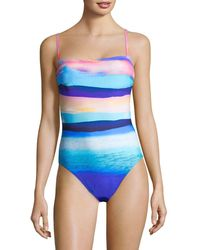 X By Gottex Seascape One-piece Tank Swimsuit - Blue
