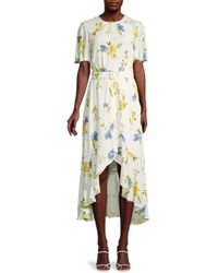 French Connection Women's Emina Belted High-low Dress - Summer Wash - Size 10 - Multicolour