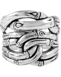 John Hardy Sterling Silver Bamboo Ring - Metallic