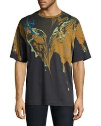 Dries Van Noten - Marble Print Cotton Tee - Lyst