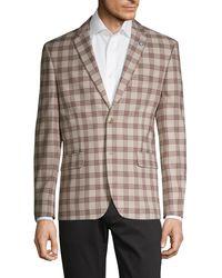 Ben Sherman Standard-fit Plaid Sportcoat - Brown