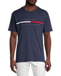 Tommy Hilfiger Men's Tino Logo T-shirt - Navy Blazer - Size Xl - Blue