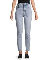 Free People Zuri High-rise Mom Jeans - Blue