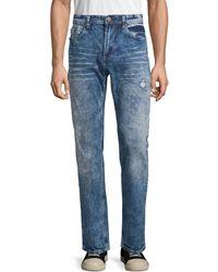 Buffalo David Bitton Distressed Slim-fit Jeans - Blue