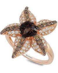 Le Vian - Chocolatier Diamond, Chocolate Quartz And 14k Strawberry Gold Starfish Ring - Lyst