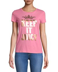 Juicy Couture - Keep It Juicy Cotton Tee - Lyst