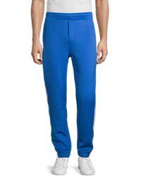 Karl Lagerfeld Men's Striped Jogger Trousers - Blue - Size S