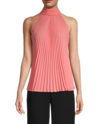 Bailey 44 Nora Pleated Halter Top - Pink
